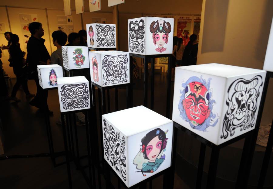 毕业生作品展在学校美术馆开幕,来自美术学院,设计学院,传媒学院,工业