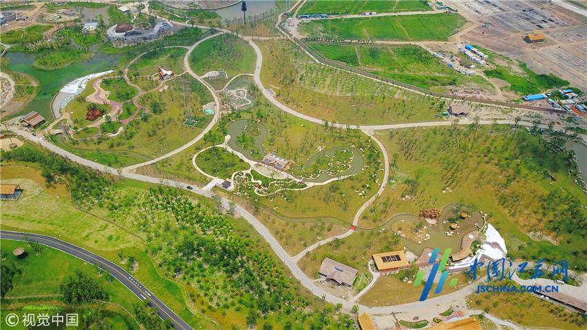 航拍江苏南通森林野生动物园 拟于9月中旬试运营