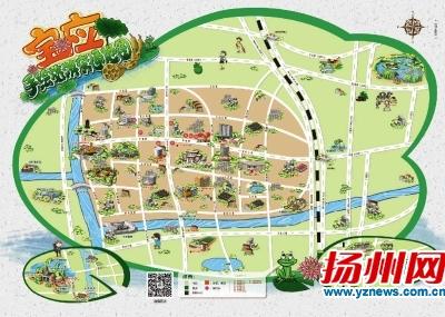 扬州首份县市区手绘旅游地图出炉
